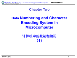 Principles of Microcomputers Chapter Two Data Numbering and