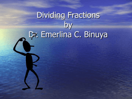Dividing Fractions - World of Teaching
