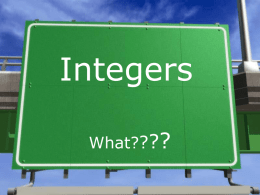 Integers - Oberlin USD 294
