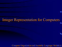 04_IntegerRepresentation