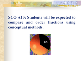 SCO A2: Students will be expected to interpret and model decimal