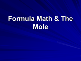 formula math & the mole pwpt