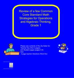 some common core standard math problems