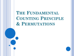 Counting Principle and Permutations PowerPoint