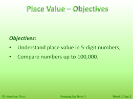 Understand place value in 5