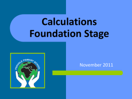 Calculations Workshop FS
