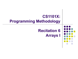 CS1101: Programming Methodology