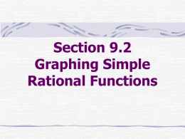 8. Graphing Simple Rational Functions