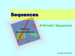 Sequences - Teaching Portfolio