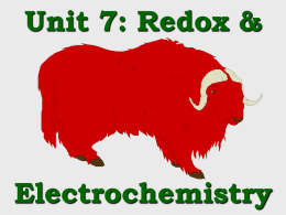PowerPoint - Redox Introduction, Assigning Oxidation Numbers