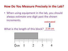 Measuring with Precision