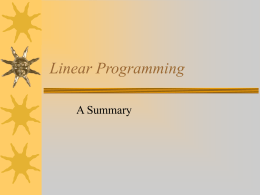 Linear Programming - piercemathresources