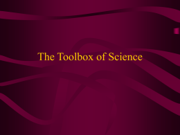 The Toolbox of Science