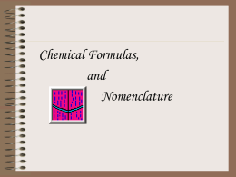 Nomenclature PPt - My Teacher Pages