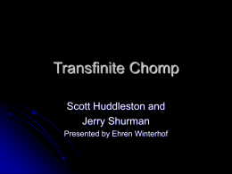 Transfinite Chomp