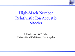High-Mach Number Relativistic Ion Acoustic Shocks