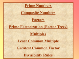 Factors/Multiples