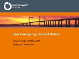 User Emergency Contact Details