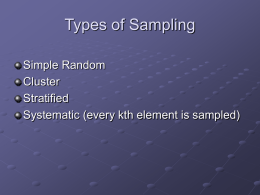 Link to Powerpoint Slide Presentation on Types of Sampling