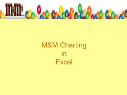 M&M Charting in Excel PowerPoint