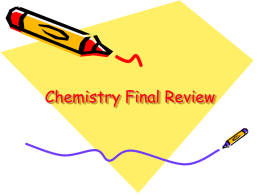 Chemistry Final Review