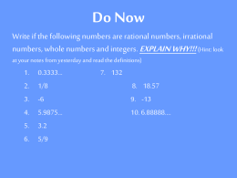 Do Now - msdiehl7math