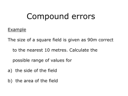 Compound errors