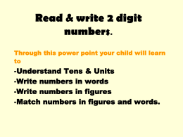 PPT 2 digit numbers