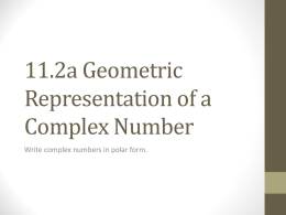 geometric representation of complex numbers