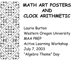 math art posters and clock arithmetic