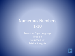 Numerous Numbers