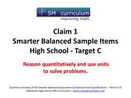 Target C - CCSS Math Activities
