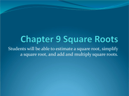 ch 9 square roots notes