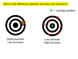 Accuracy and Precision notes