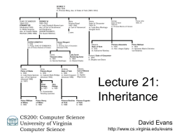 Inheritance - University of Virginia