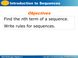 5.1 Introduction to Sequences