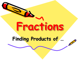 Product Of Proper Fractions