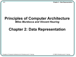 Chapter 2 - Data Representation