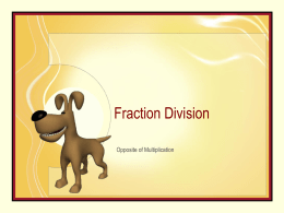 Fraction - Division