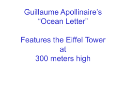 "Guillaume Apollinaire`s ""Ocean Letter"" Features the Eiffel Tower"