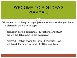 Grade 5 Big Idea 2 - ElementaryMathematics