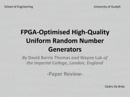 FPGA-Optimised High-Quality Uniform Random Number Generators