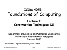 Lecture09 - Electrical and Computer Engineering Department