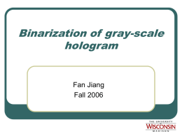 Binarization of gray
