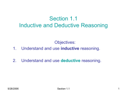 Section 1.1: Problem Solving and Critical Thinking