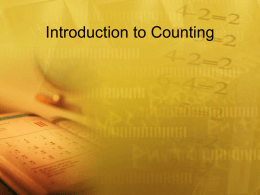 Introduction to Counting