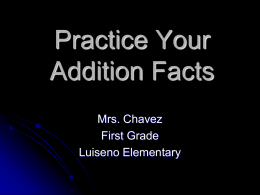 Practice Your Addition Facts