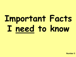 Key Facts Y5