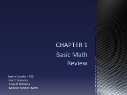 Chapter 1 - Basic Math Review