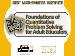 instructional strategies for teaching quantitative problem solving